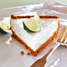 Creamy Vanilla Lime Yogurt Cheesecake pie