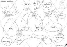 Teacher's Pet - Reindeer D&T Activity - Premium Printable Game / Activity - EYFS, KS1, KS2, christmas, template, felt, activity, craft, d&t,...