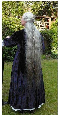 ready for a ball by patriciajhd, via Flickr pinning for this impressive display of gray grey silver hair