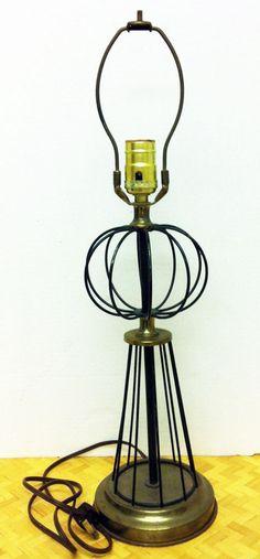 dc5373c23545 Mid Century Modern Wire Lamp Atomic Age 1950 s