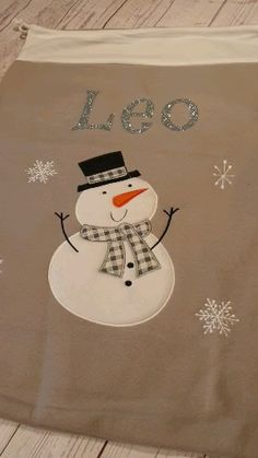 silver, white and grey Snow man. - Add some extra festivity to your christmas this December with these beautiful luxury walm grey and - Christmas Morning, Christmas Time, Santa Sack, Personalized Stockings, Childrens Christmas, Sacks, Sewing Techniques, All Things Christmas, Little Boys