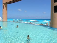 Beach Palace Cancun...please get me there...now...please pool at beach palace cancun