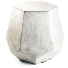 The pentagon shape of this Eco-concrete table adds a new dimensions to your indoor or outdoor space. Crafted by artisans in Vietnam, this accent table's geometric design gives a modern touch.