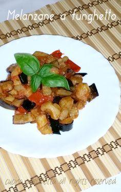 Melanzane a funghetto, ricetta, cucina preDiletta
