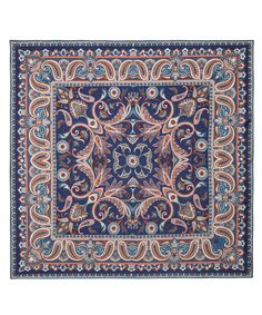 Blue Paisley Silk Scarf, Liberty London.