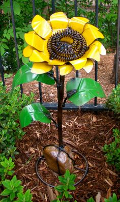 Mexican Yard Garden Metal Sunflower