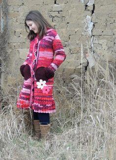 Detské oblečenie - Červenobordový svterokabátik - 3730014