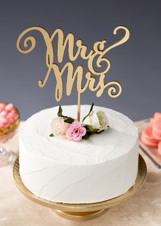 Mr & Mrs wedding cake topper by Better Off Wed https://www.etsy.com/shop/BetterOffWed