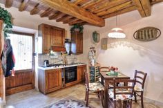 Fully-furnished, RENOVATED APARTMENT in ANCIENT Tuscan stone-built FARMHOUSE with PRIVATE courtyard
