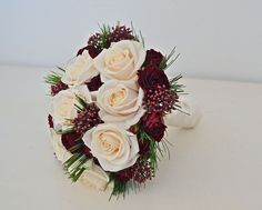 winter-bouquet-cream-burgundy by fioribylynne, via Flickr