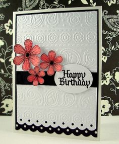 love the embossing and punch