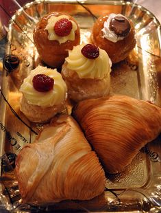 Italian desserts. St Joseph pastries for my birthday!!!!<3