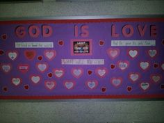 My Lenten Valentine's Day Bulletin Board.