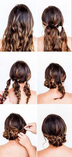 Zopf Hochsteckfrisur - lange Haare