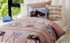 Combi Vans Boys Quilt Cover set  by Whimsy| IZZZ| $73