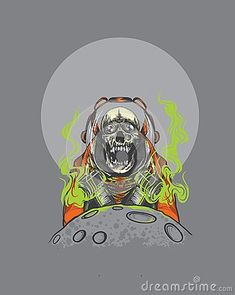 Astronout skull with toxic design
