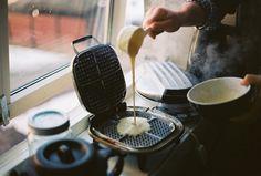 Waffle iron.