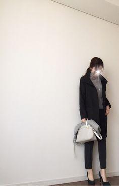 【coordinate】UNIQLO+GUでキチンとグレーコーデ の画像|Umy's プチプラmixで大人のキレイめファッション
