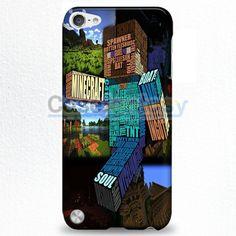 Minecraft Steve Typograpghy iPod Touch 5 Case | casefantasy