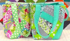Novice Beginnings love these bags, and they're so easy to make...video tutorial...free