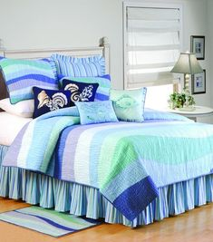 Ocean Wave by C&F Luxury Quilts is perfect for any cottage, cabin or guest…