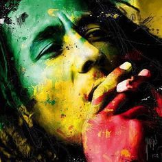 Bob Marley by Patrice Murciano, 1969 ~ Pop Art Bob Marley Shirts, Bob Marley Art, Bob Marley Colors, Bob Marley Painting, Bob Marley Quotes, Murciano Art, Patrice Murciano, Photographie Street Art, Bob Marley Pictures