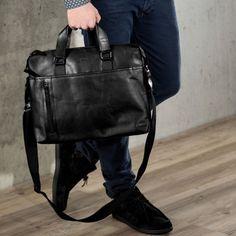 large briefcase laptop bag LEANDRO - messenger bag fits tablet, iPad, laptop - genuine tan-cognac leather x x in. Leather Laptop Bag, Leather Shoulder Bag, Leather Backpack, Leather Bag, Shoulder Strap, Shoulder Bags For School, Briefcase, Luggage Bags, Laptop Sleeves