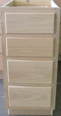 Kitchen Drawer Base Cabinet 15unfinished Oak Cabinets Unfinished Surplus Building Materials
