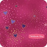 Laurel Burch Basics Violet Metallic Hearts Yardage<BR>SKU