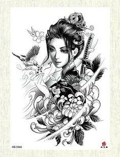 Geisha tattoo: Beautiful inspirations for your tattoo - - . - Geisha tattoo: Beautiful inspirations for your tattoo – – # Inspirations - Geisha Tattoos, Geisha Tattoo Design, Japan Tattoo Design, Japanese Girl Tattoo, Japanese Tattoo Designs, Japanese Sleeve Tattoos, Geisha Kunst, Geisha Art, Geisha Drawing