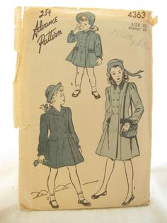 Advance 4363 Girls 1950s Blouse Coat or Jacket by EmSewCrazy