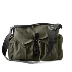 Harvey Messenger Bag by filson: Rain-resistant camera bag with removable cushioned insert. #Camera_Bag #Cross_Body