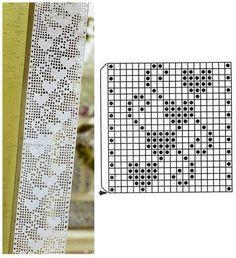 Crochet Bookmark Pattern, Crochet Mandala Pattern, Crochet Bookmarks, Crochet Borders, Crochet Diagram, Crochet Chart, Easy Crochet Patterns, Filet Crochet, Crochet Quilt