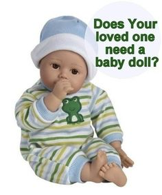 Does your Mom with Alzheimer's / dementia have her Very Own Baby doll?