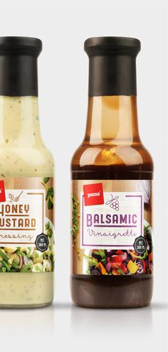 private brand bottle packaging designs for Pams salad dressing