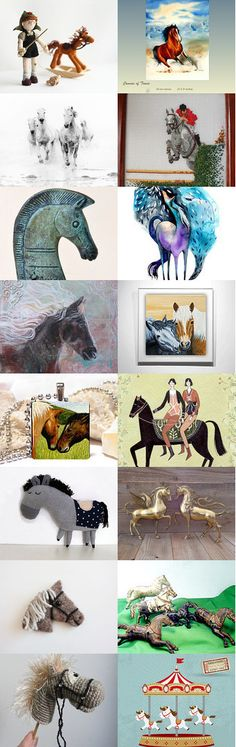 Horses-IV by Jelena on Etsy--Pinned with TreasuryPin.com #horse #year #autumn #decor #design #art #gifts