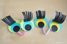 Paper Scrap Bird Finger Puppets