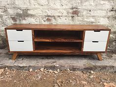 Rustic Furniture Outlet, Modern Furniture, Tv Stand Minimalist, Television Stands, Solid Wood, Contemporary, Living Room, Retro, Storage