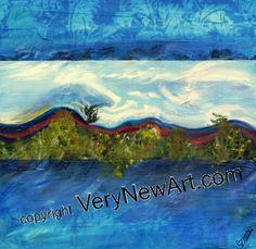 """Ölbild """"Die Welle"""" von Frank Carlguth, 40 x 40 cm #Künstler #artist #Ölbilder #Oil Pictures"""