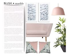 """""""Blush & Marble"""" by pattykake ❤ liked on Polyvore featuring interior, interiors, interior design, home, home decor, interior decorating, Muuto, Grace, Pier 1 Imports and blushandmarble"""