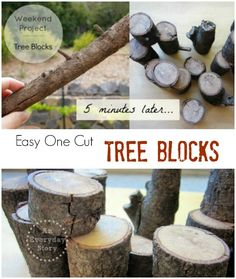 Easy DIY Tree Blocks: Make some this weekend. {from An Everyday Story}