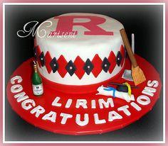 Graduation Cake - Rutgers University by Slice of Sweet Art - Custom Cakes, via Flickr