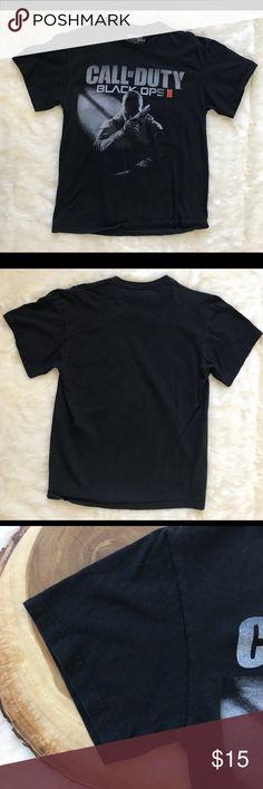 Call of Duty Black Ops II Mens Medium Call of Duty Black OPS II Mens Medium 38/40 Black T-Shirt Activision Shirts Tees - Short Sleeve