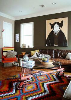 Inspirações: 22 salas de estar ecléticas | Casinha colorida