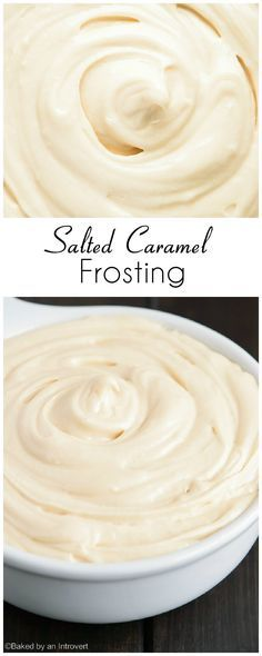Frosting Creamy salted caramel frosting that pairs great with chocolate or vanilla cakes.Creamy salted caramel frosting that pairs great with chocolate or vanilla cakes. Frosting Recipes, Cupcake Recipes, Baking Recipes, Cupcake Cakes, Dessert Recipes, Frosting Tips, Fondant Recipes, Frosting Techniques, Fondant Cakes