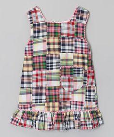 Pink Plaid Ruffle Madras Dress - Toddler & Girls #zulily #zulilyfinds