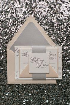 LAUREN Suite Romantic Package, blush and silver, elegant wedding invitations, feminine invitations, spring wedding invitations, neutral, soft