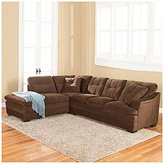 Roxanne 2 Piece Sectional Big Lots Simmons® Roxanne 2 Piece Sectional  $699.99 Luxurious Chocolate Coloring And Wood Block Feet Give This 2 Piece  Sectional ...