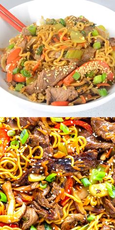 ramen noodle recipes Beef Ramen Noodle Recipe is a quick stir fry using ramen noodles, beef, and vegetables, with a savory stir fry sauce. Make this Beef Noodle Stir Fry for a quick and easy dinner tonight! Stir Fry Using Ramen Noodles, Beef Noodle Stir Fry, Beef And Noodles, Beef Udon Stir Fry, Ground Beef Stir Fry, Pan Fried Noodles, Fried Noodles Recipe, Thai Stir Fry, Chinese Stir Fry