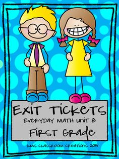 Easy math assessment.  Use these exit tickets to check understanding daily.  Collect them in an interactive math notebook and see student progress over time.  This packet is aligned with Everyday Math First Grade but can be used with any curriculum!